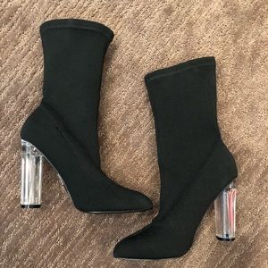 NWT Forever 21 Black Stretch Booties